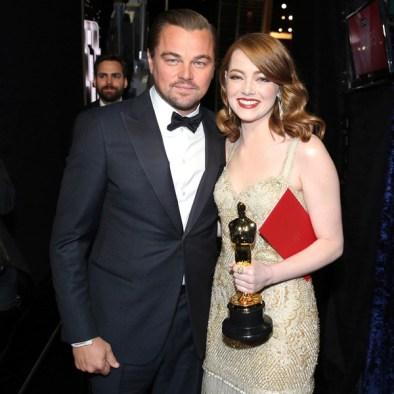 Leonardo Dicaprio and Emma Stone