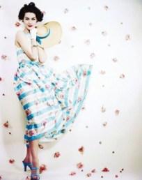 Striped dress worn by Nancy Berg