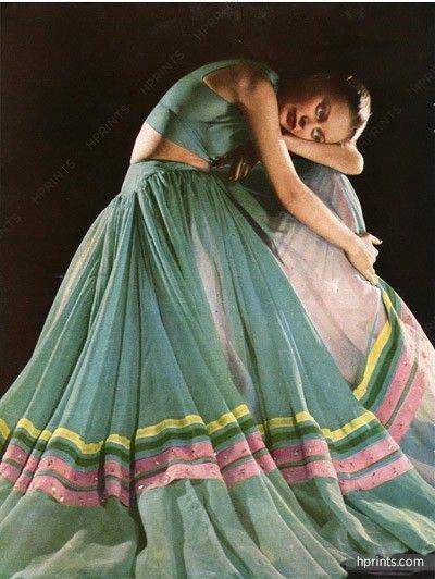 Grès mousseline evening gown 1947