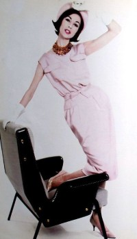 Jean Patou shatung sheath 1960