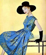 Cotton summer dress by Jacques Fath 1957