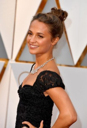 Alicia Vikander wearing Louis Vuitton in 2017