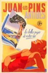 Vintage Advertising Poster from Onslows - Juan Les Pins