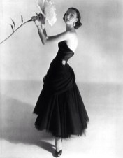 Evelyn Tripp wearing Charles James, 1951