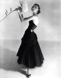 Evelyn Tripp wearing Charles James, 1951