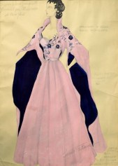 """Sketch of the gown worn by Ava Gardner in the movie """"Barefoot Contessa""""""""Barefoot Contessa"""""""