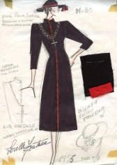 Sketch of a costume worn by Ava Gardner