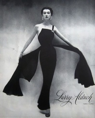 Silk chiffon evening dress 1959