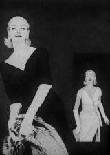 Larry Aldrich dress on the left, December Vogue 1958
