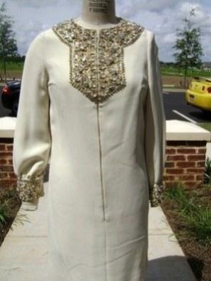 Beaded dress by Marie McCarthy for Larry Aldrich