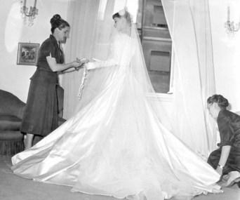 Audrey Hepburn in her wedding dress