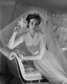 """Babe"" (Barbara Paley) in her wedding dress, 1940"