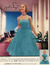 Dress designed by Jeanne Carr for Jonathan Logan, 1956