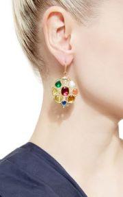 Navratna earrings by Sanjay Kasliwal