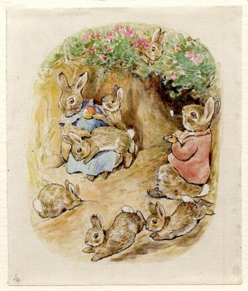 rabbit family potter