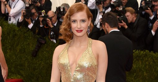 Jessica Chastain met ball