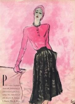 Pink dinner dress 1944