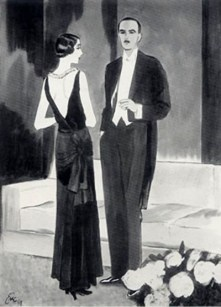 Black vekvet evening gown, Chanel couture, 1929