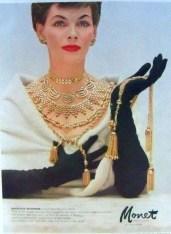 Vogue Ad Monet jewelry 1954