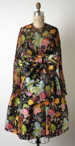 silk dress - james Galanos - 1960