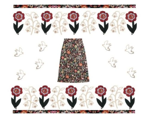 Among flowers and birds (Red Valentino)