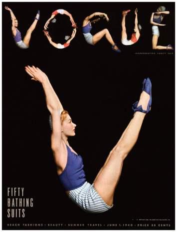 Lisa Fonssagrives by Horst P. Horst, Vogue June 1, 1940