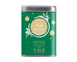 Noel en vert by Comptoir Français du thé : Perfumed green tea (spices, almond and safflower)