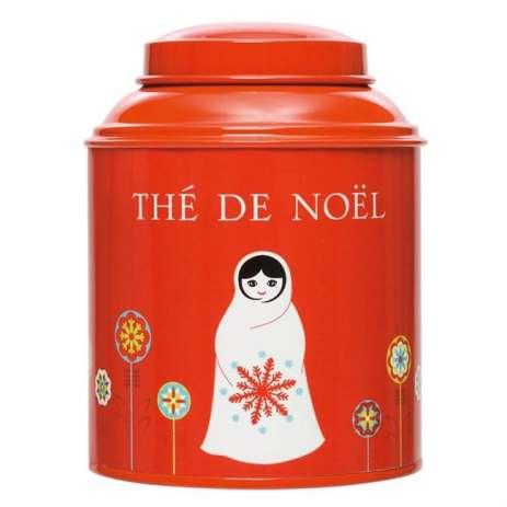 Thé de Noelbio by Nature et découvertes : Perfumed black tea (cinnamon, clove, orange peels, almond, marigold, pink pepper and vanilla)