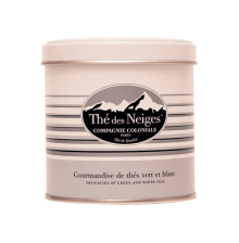 Thé des neiges by Compagnie coloniale : Perfumed green tea and white tea blend (apple, red berries and petals)