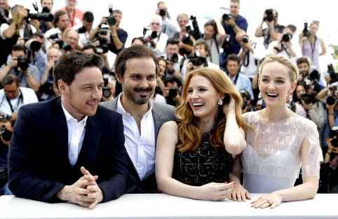 James McAvoy and Jessica Chastain