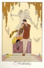 L'automne, les quatre saisons by George Barbier 1925