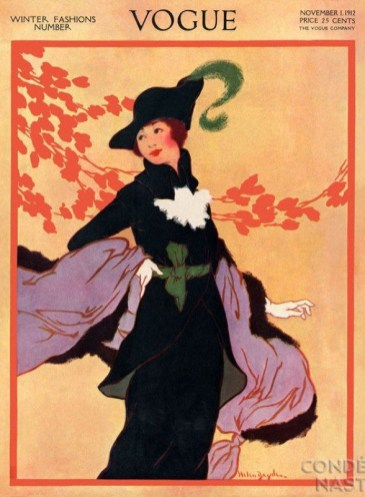 Helen Dryden's cavalier portrait, Vogue November 1912