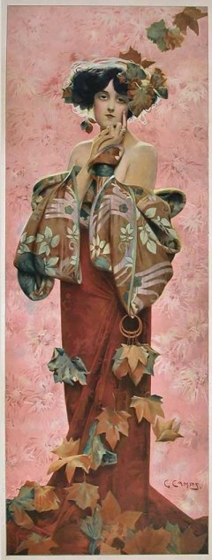 Fall decorative panel by Gaspar Camps 1907