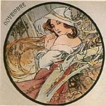 November by Alphonse Mucha