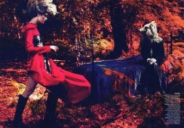 Into the woods Natalia Vodianova by Mert & Marcus for American Vogue