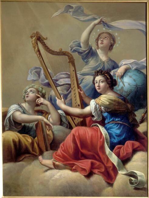 «Calliope, Uranie and Terpsichore» by Pierre Mignard