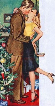 Christmas illustration 1950s