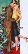 Christmas illustration 1950s