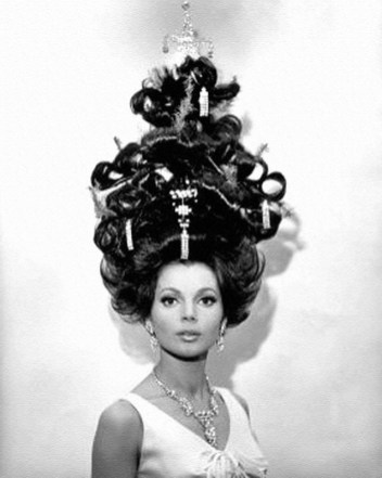 Christmas hairstyle sixties