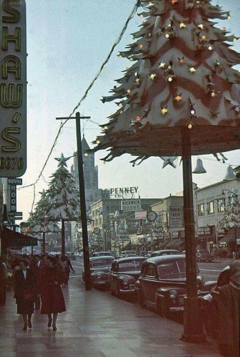 Christmas at Los Angeles 1940s
