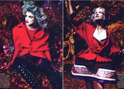 Into the woods Natalia Vodianova by Mert & Marcus for Vogue US