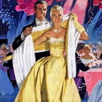 New year Cadillac ad 1950s