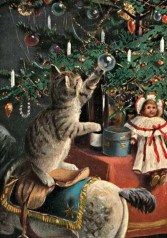Old Russian Christmas postcards before 1917