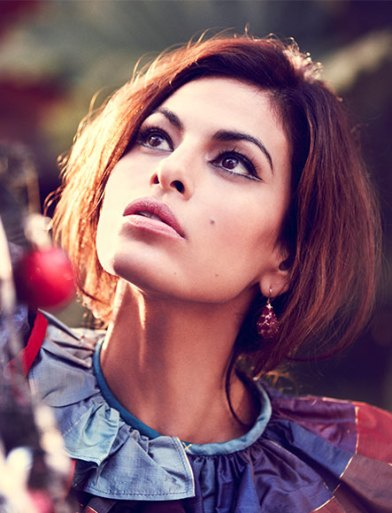 Eva Mendes shot by Guy Aroch for Violet Grey, christmas editorial