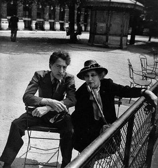 Colette and Jean Cocteau by Robert Doisneau