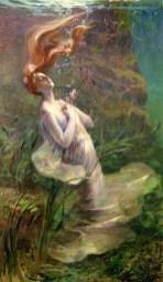 Ophelia drowning by Paul Albert Steck