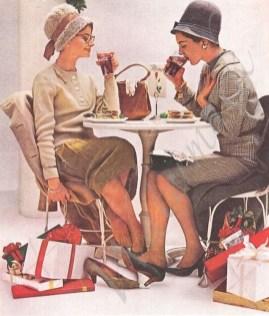 1960s Christmas shopping