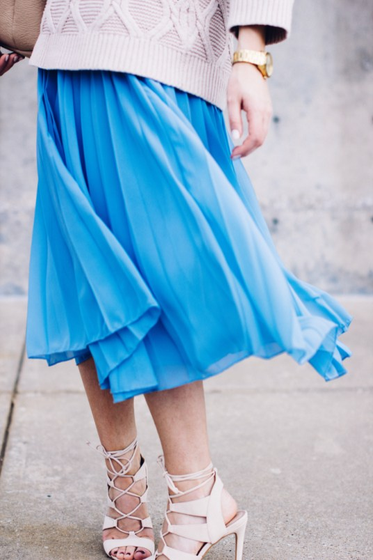 Serenity Pleated Midi Skirt