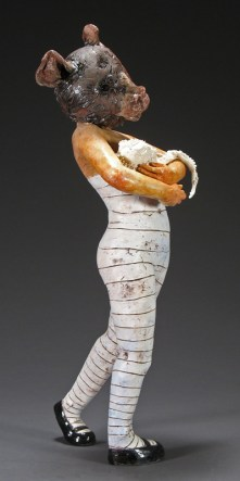 """Nurturer, 2006, terracotta/porcelain, 31"""" x 10"""" x 10"""""""