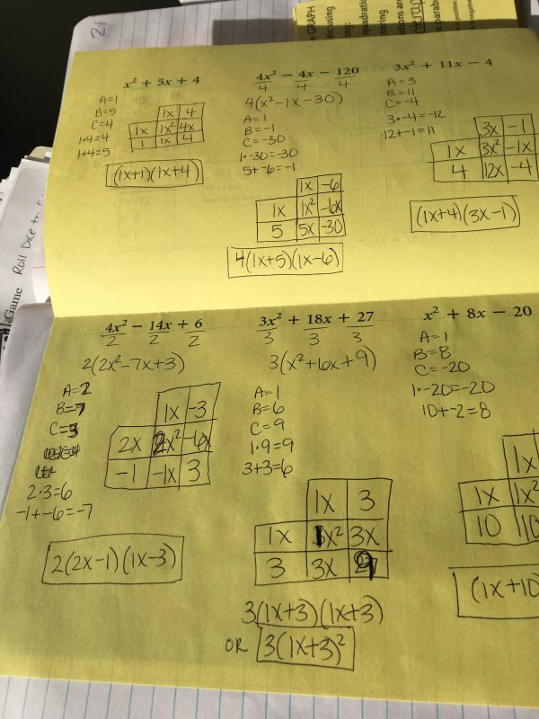 Algebra 2 Unit Interactive Notebooks Solving Quadratics